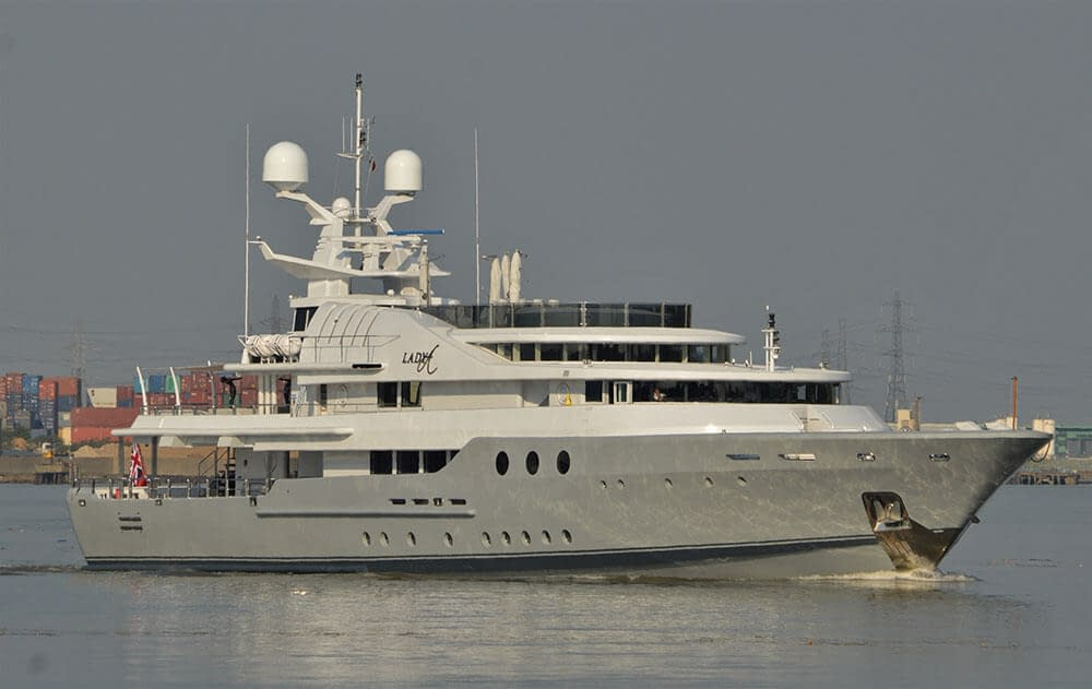lady a superyacht river thames