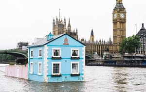 airbnb floating house thames big ben