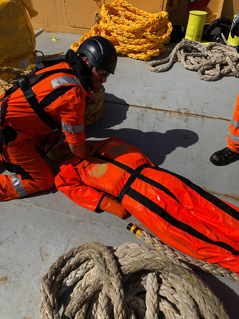 bennett's barges man overboard safety exercise
