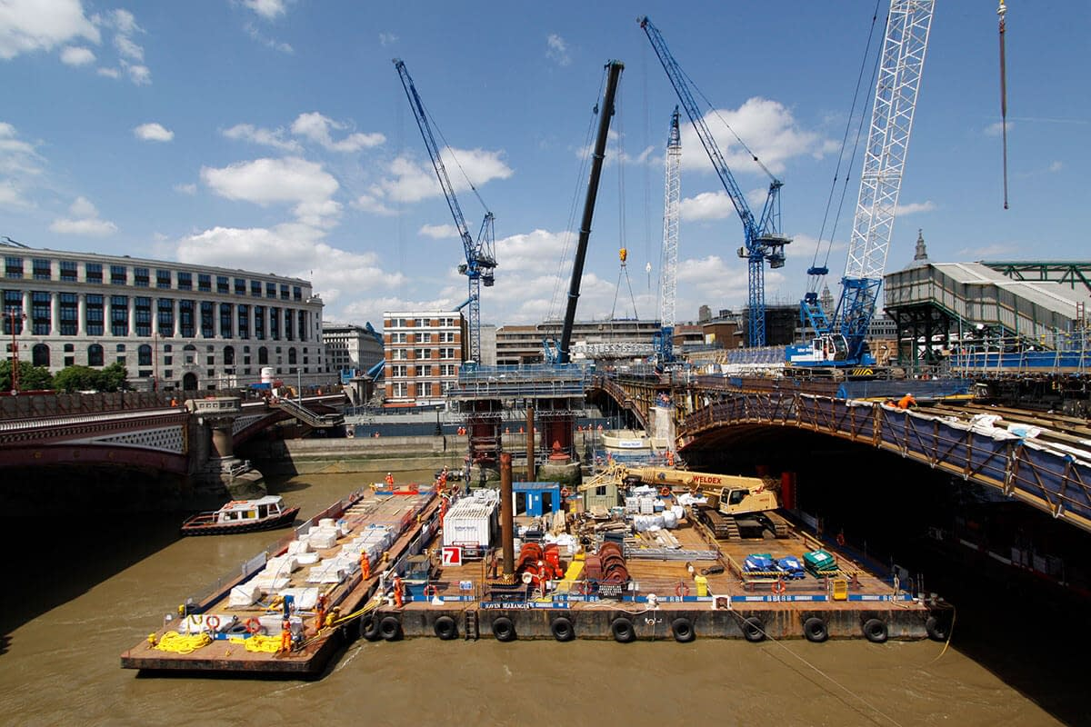 blackfriars rail bridge reconstruction