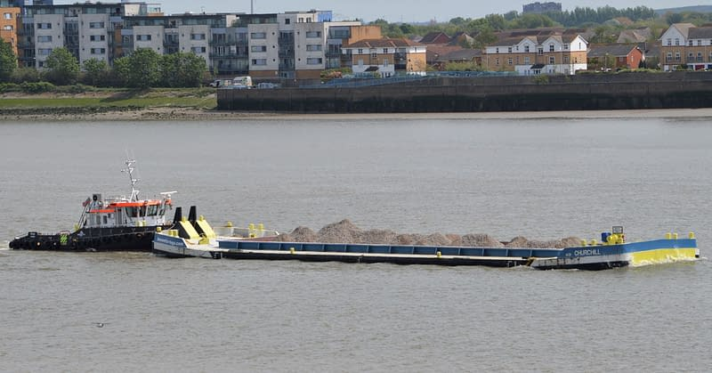 felix tug churchill barge thames