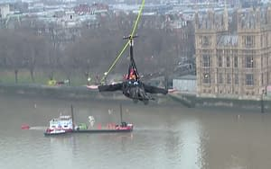 london fire brigade thames zip wire