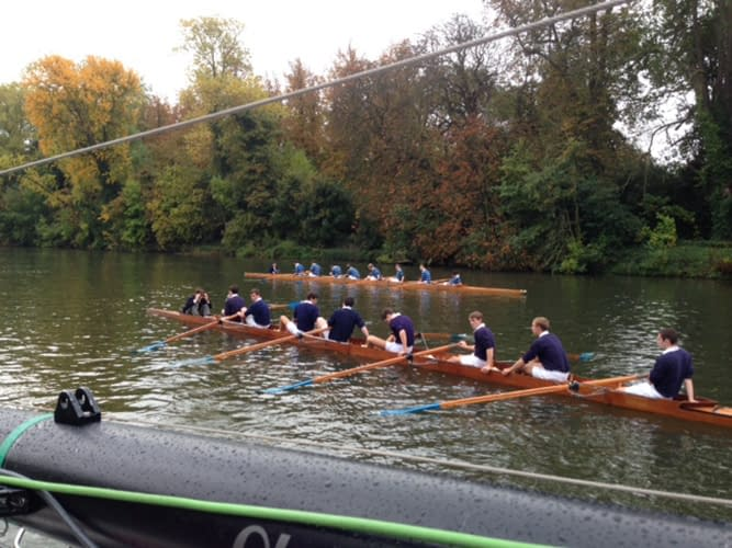 river thames filming row boat