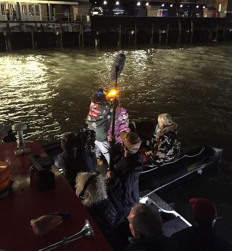 river thames filming absolutely fabulous