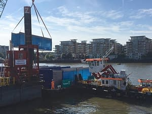 thames tideway tunnel cabin delivery