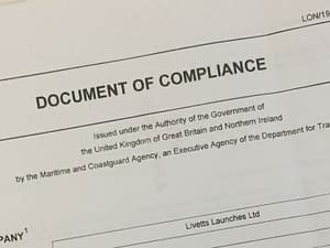 ism code document of compliance