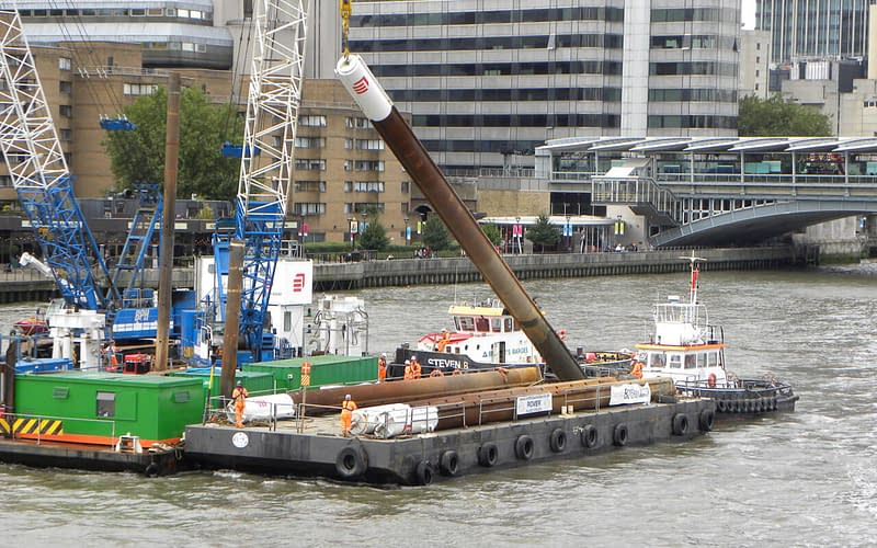 baynard house water cooling shaft relocation thames
