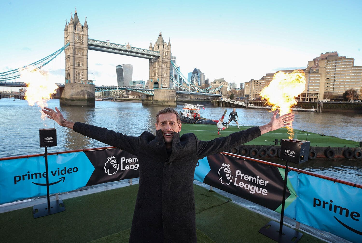 amazon prime premier league launch tower bridge peter crouch