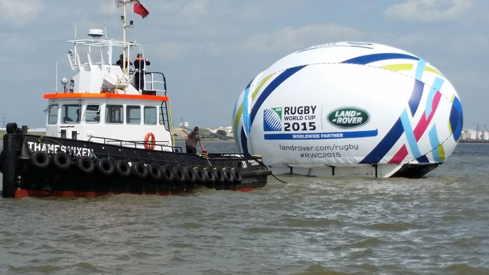 thames vixen land rover rugby world cup ball