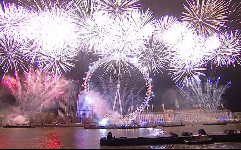 new year's eve 2018 london fireworks