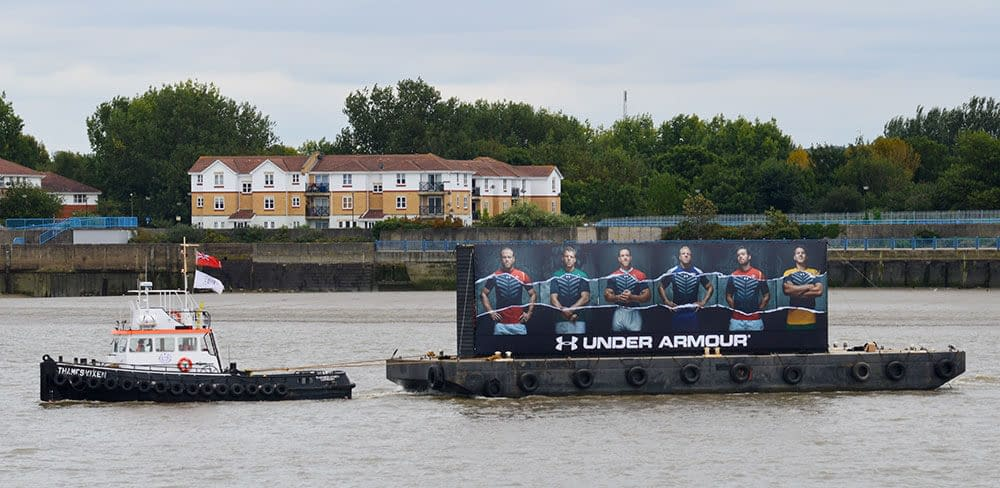 under armour river thames pr launch livett's
