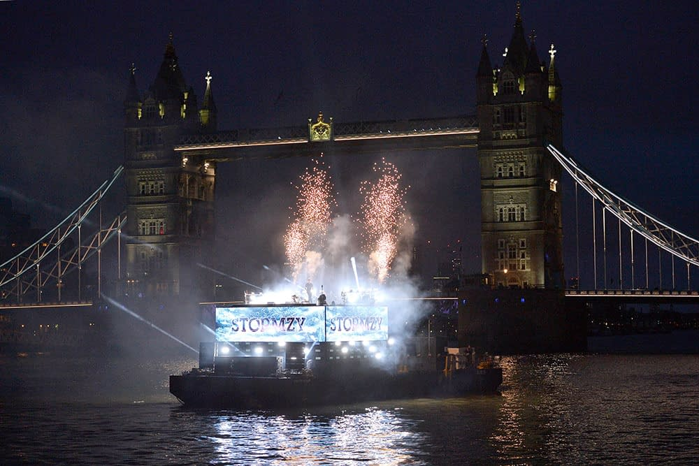 ee 5g launch river thames london stormzy